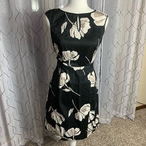 The Limited Black Floral Print Sleeveless Dress S